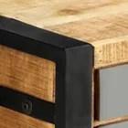 ywt meuble tv 120 x 30 x 40 cm bois massif de manguier avec finition en metal sur la porte et les tiroirs