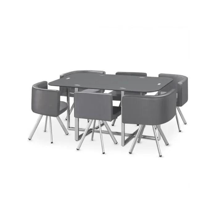 ensemble table de repas 6 chaises