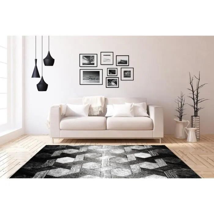 tapis 3d tapis design moderne tapis salon noir bla