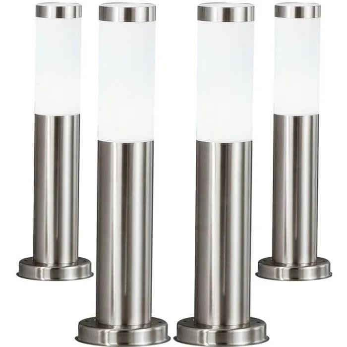 4 x lampadaire ip44 luminaire sur pied eclairage espace exterieur jardin terrasse
