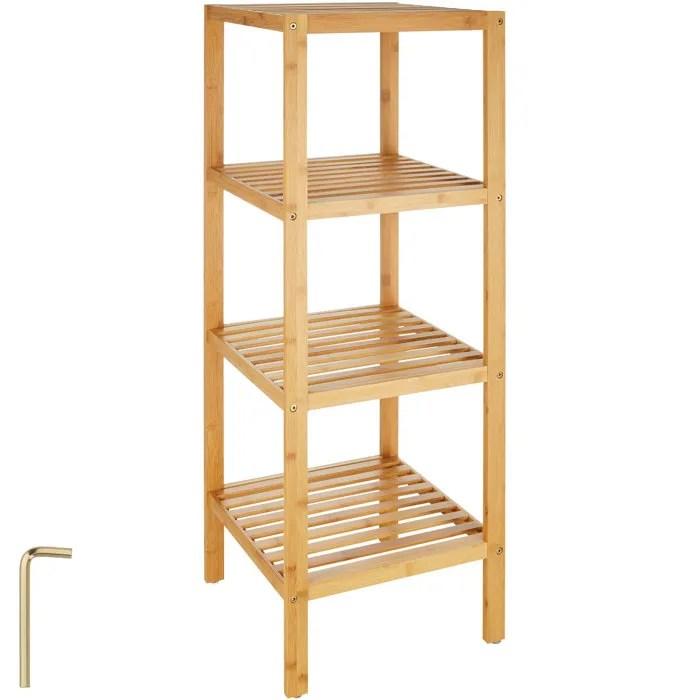 etagere bois salle de bain