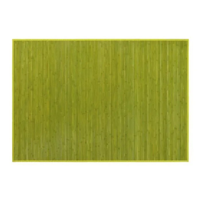 tapis vert de bambou antiderapan