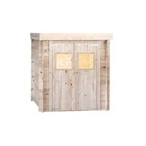 abri de jardin en bois toit plat