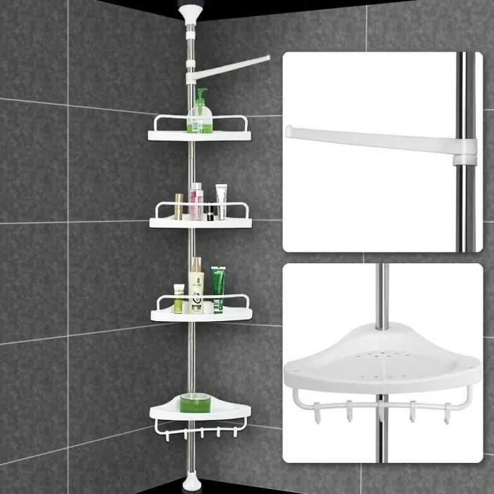 etagere d angle telescopique 4 tablettes pour sall