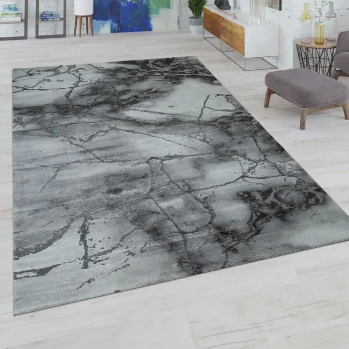 tapis poils ras salon moderne aspect use motif abs