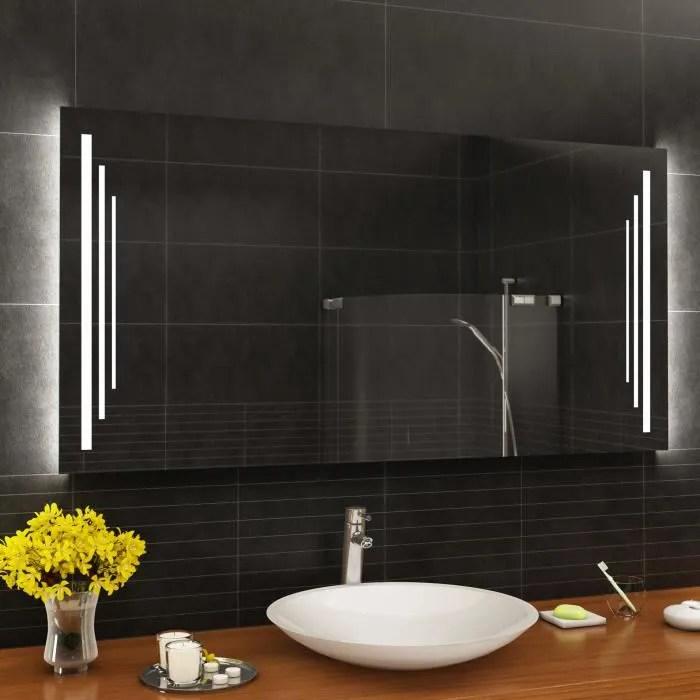 artforma l27 140x80 cm illumination led miroir sur mesure eclairage salle de bain