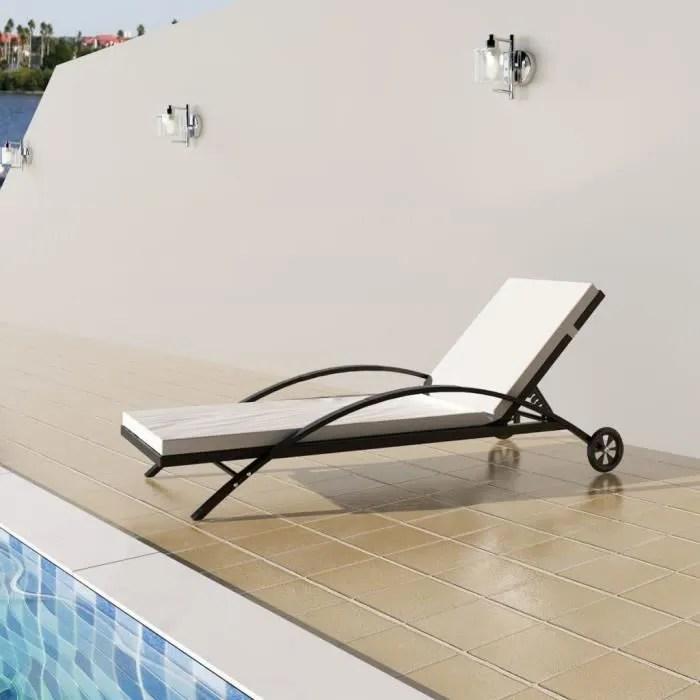 transat bain de soleil avec roues