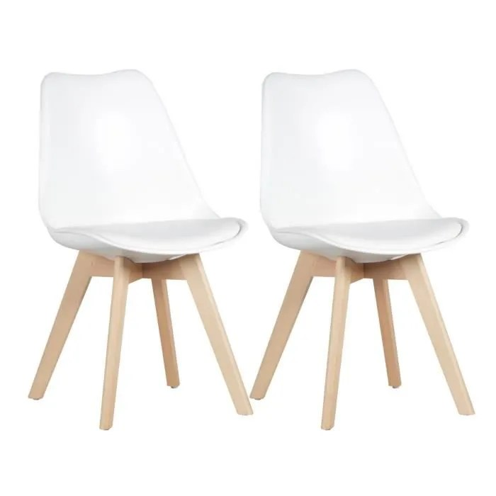 mevik lot de 2 chaises blanches