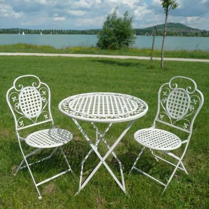 salon de jardin en fer forge 2 chaises
