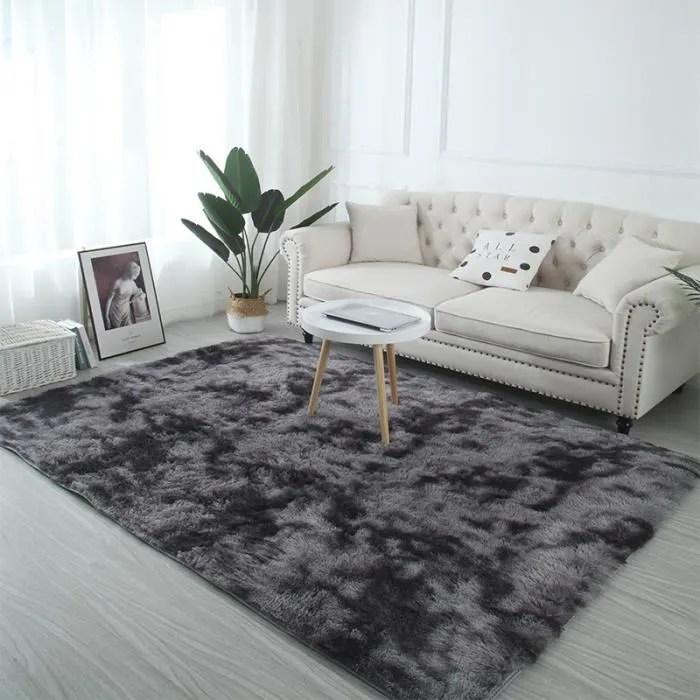 tapis de salon shaggy gris 120x160 cm