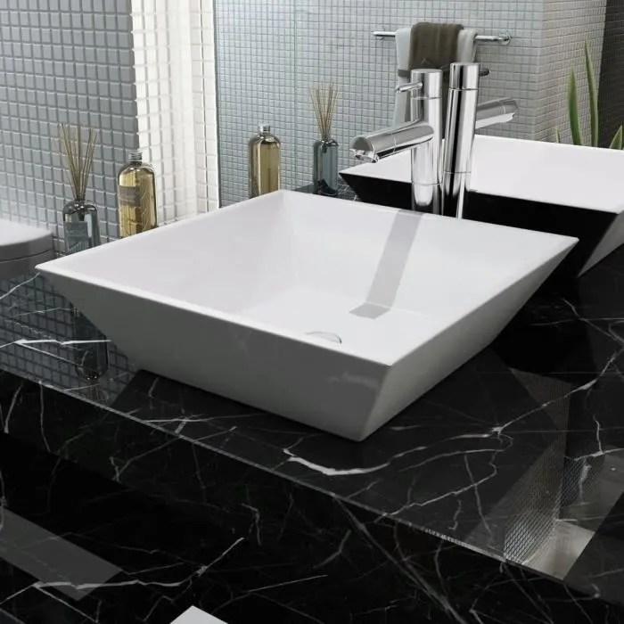 lavabo salle de bain a poser vasque a poser carree