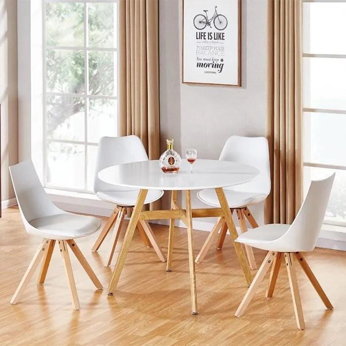 table a manger ronde scandinave en bois 80cm umb