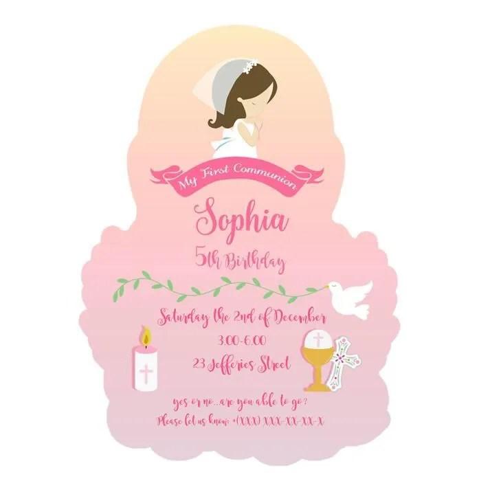 carte d invitation pour fete de communion pour fil