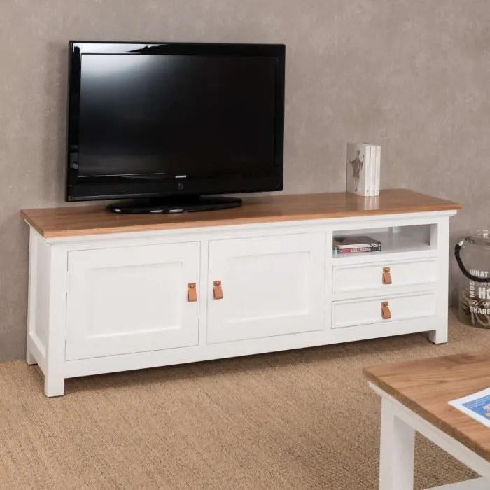 meuble tv en acajou 150 chic achat
