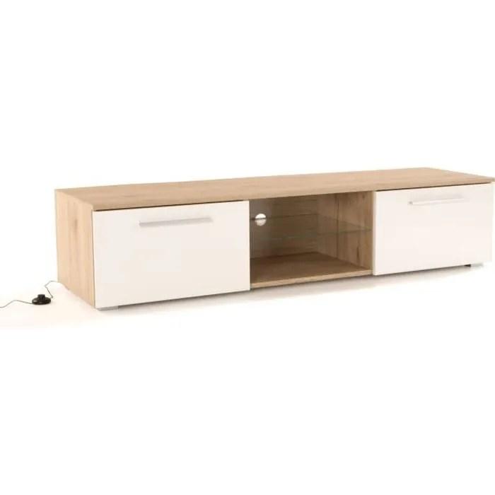 meuble tv blanc 160