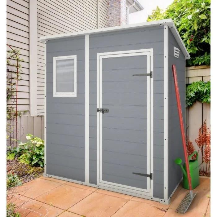 keter premium 64 abri de jardin en pvc monopente 1 6m
