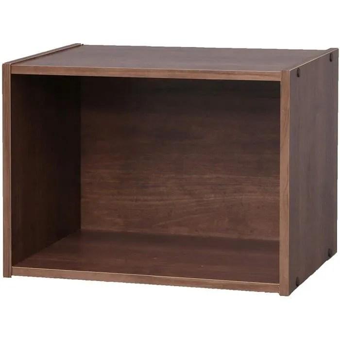 iris ohyama etagere cube en bois mdf 1 casier cube bookcase cx 1 brun 41 5 x 29 x 30 5 cm