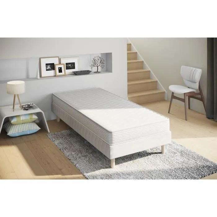 lit adulte 90x190 avec sommier et matelas