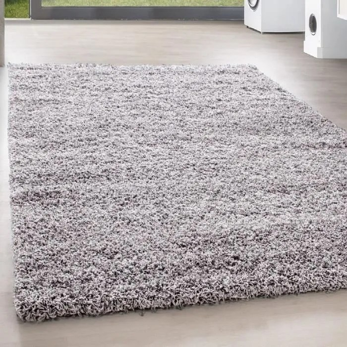 shaggy shaggy long pile pas cher tapis gris clair