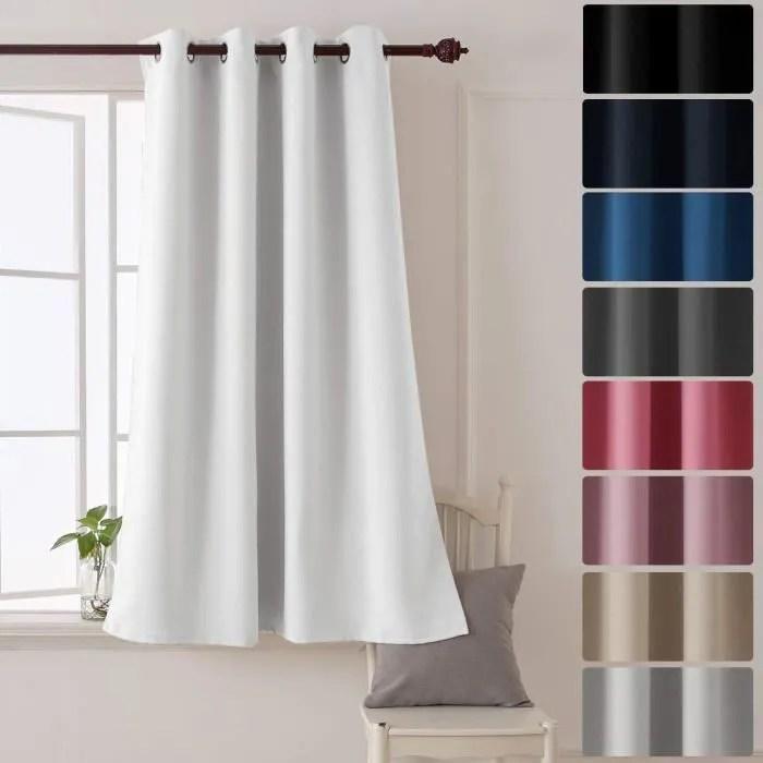 deconovo rideau chambre decorative super soft oeil