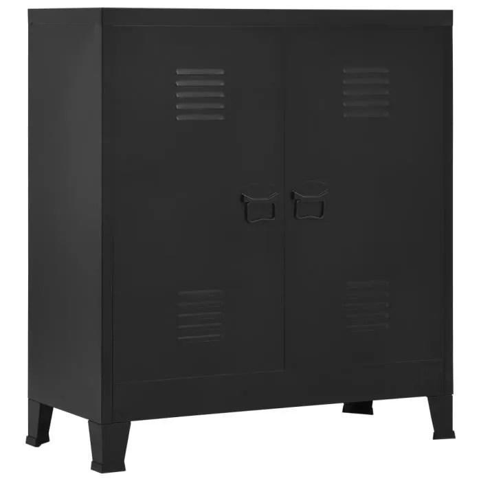 classeur industriel noir 90x40x100 cm