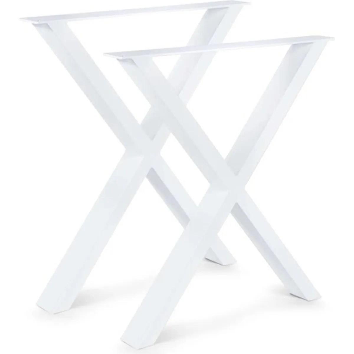 set de 2 pieds de table pied de meuble