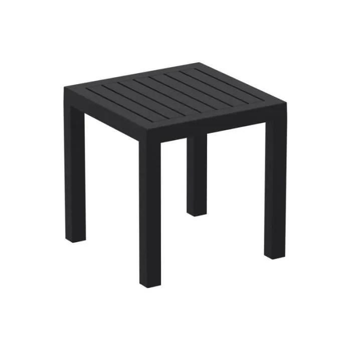 petite table de jardin en plastique noir resistant