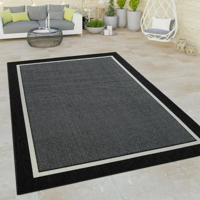 tapis a poils ras interieur exterieur aspect 3d