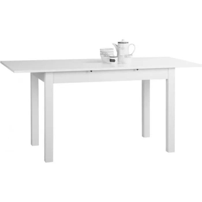 coburg table a manger extensible de 4 a 8 personnes classique blanc l 120 160 x l 70 cm