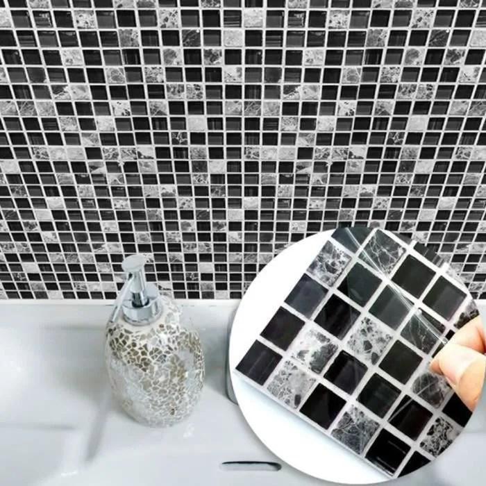 papier peint salle de bain imitation carrelage