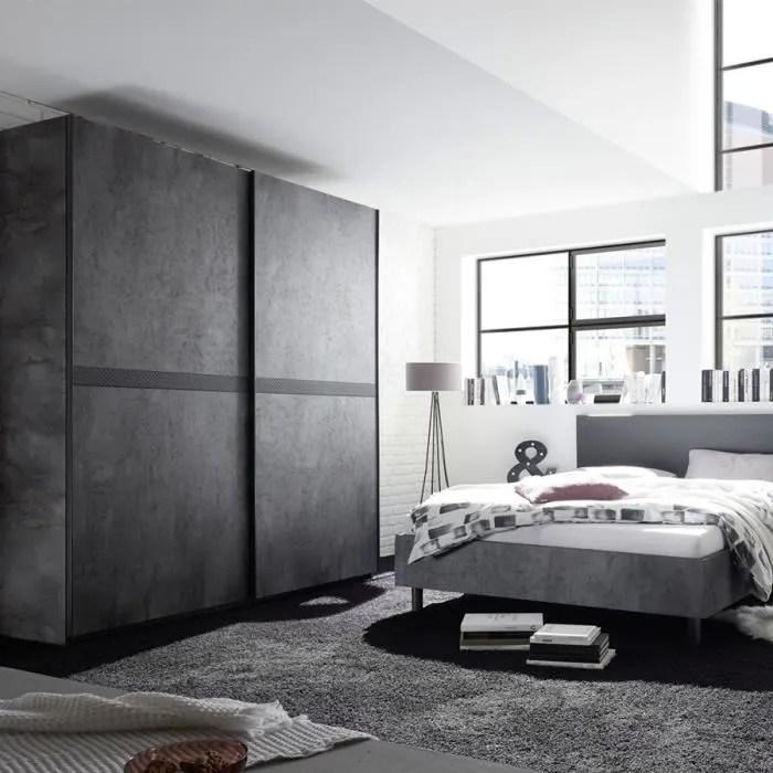 casone lit 180 cm gris l 190 x p 210 x