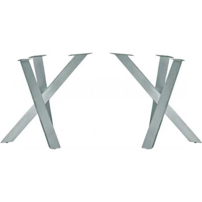 pied de table moderne en fer 90x72 cm