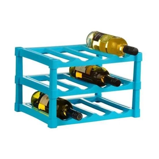 https www cdiscount com maison meubles mobilier casier a vin bleu en plastique a 3 niveaux pour 12 f 1176003 auc5018705744544 html