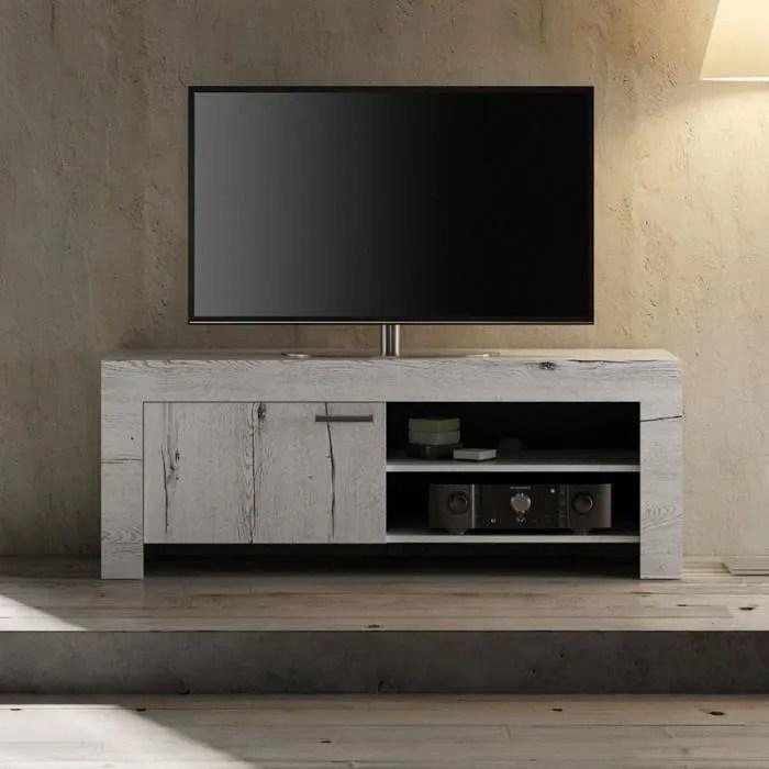 petit meuble tv couleur chene blanchi loggia 2
