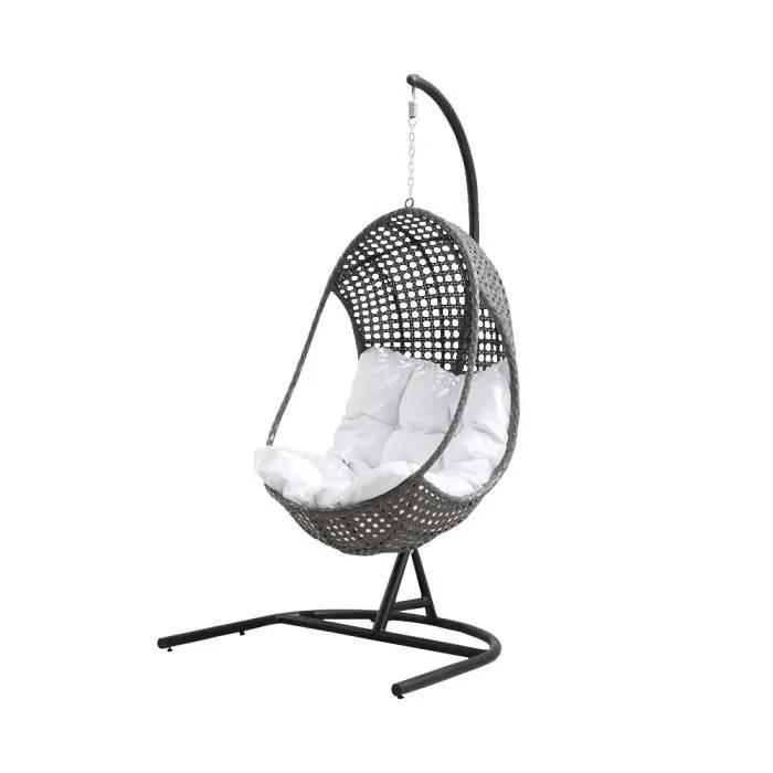 fauteuil suspendu de jardin blanc en