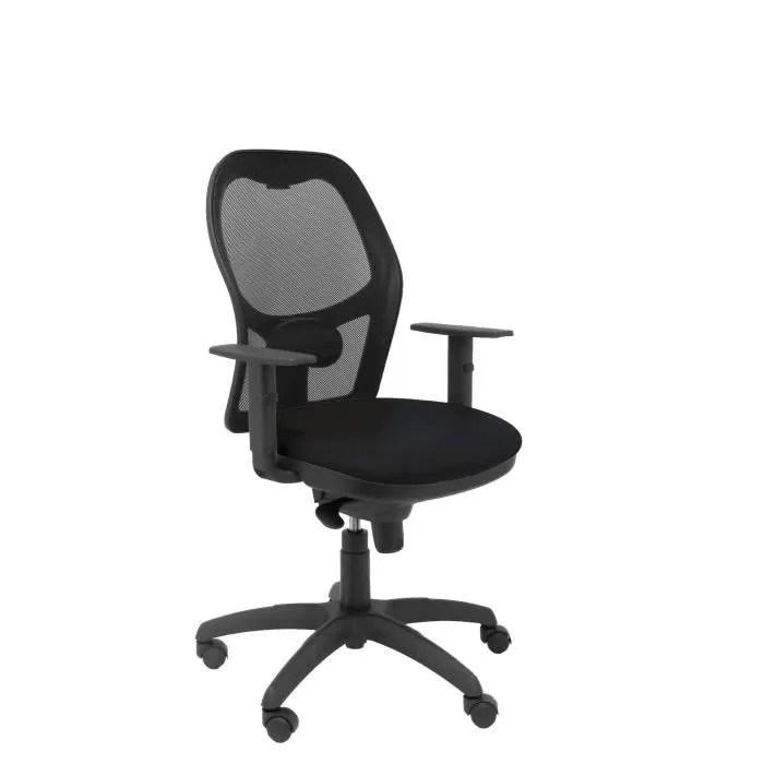 fauteuil de bureau ergonomique avec mecanisme synchro accoudoirs reglables et hauteur reglable dossier en maille respirante en