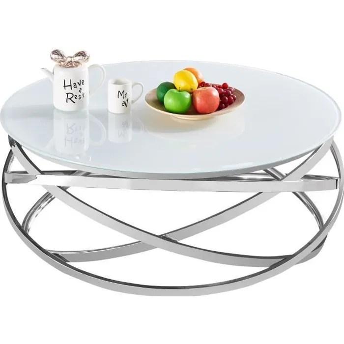 table basse design rond avec pietement