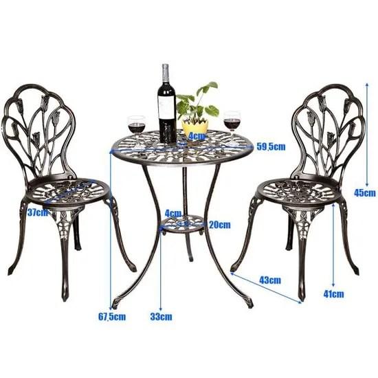 costway ensemble table de bistrot table