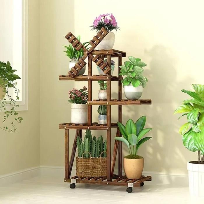 neufu etagere pour plantes en bois support pot de