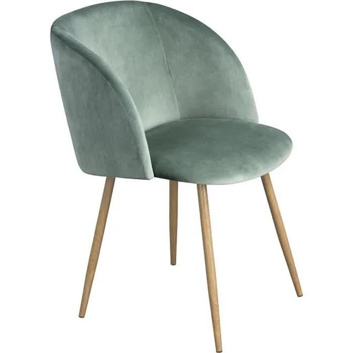 chaise scandinave velours avec accoudoirs fauteuil de tissu vert fonce