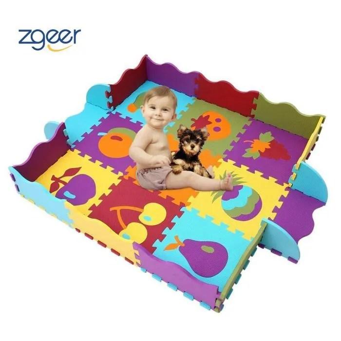 tapis mousse basic dalles fruits puzzle tapis mo