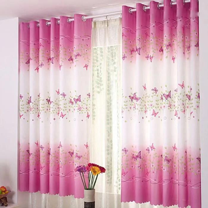 rideau double rideaux papillon calico fenetre tissu produits finis ecrans rideau ngh50824106 118