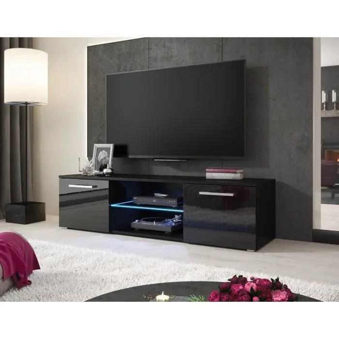 e com meuble tv zeus avec lumieres led bleues
