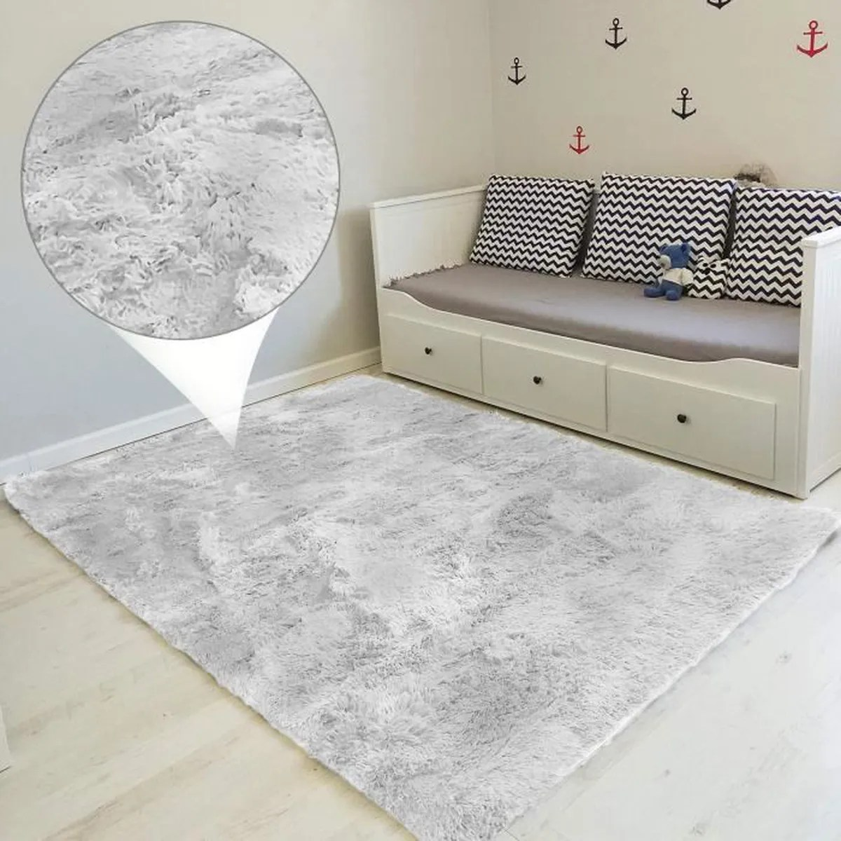 tapis shaggy grande taille