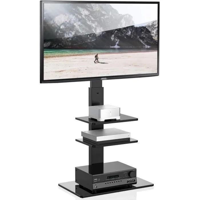 meuble tv pied avec support pivotant pour televise