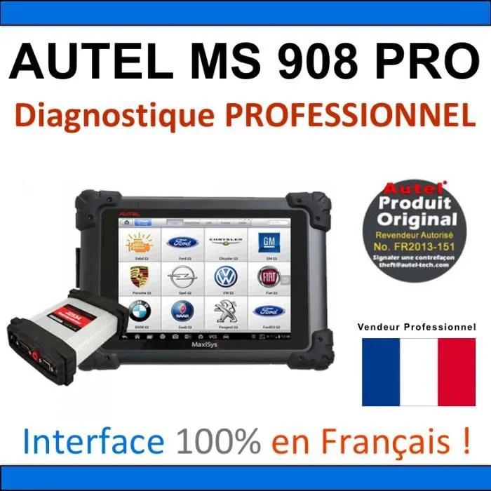autel maxisys ms908 pro valise diagnostique mult
