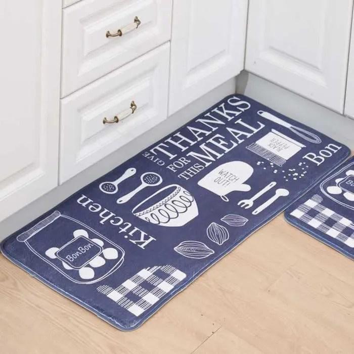 lot de 2 tapis de cuisine 40 x 60 cm et 50 x 120