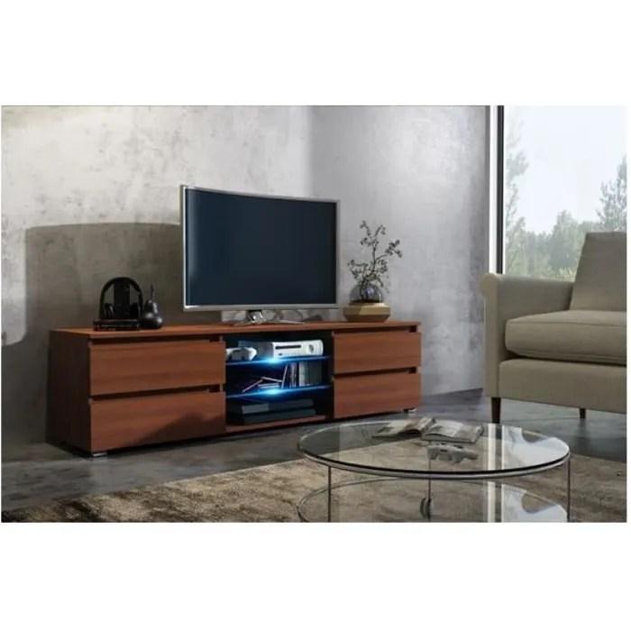 meuble tv 150 cm couleur mdf noyer