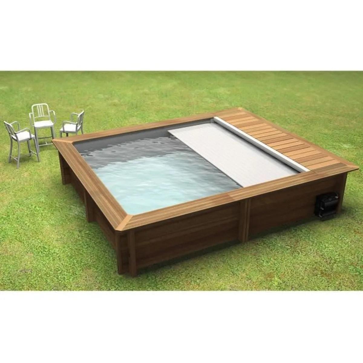 piscine urbaine hors sol bois 4 2 x 3 5 m bois
