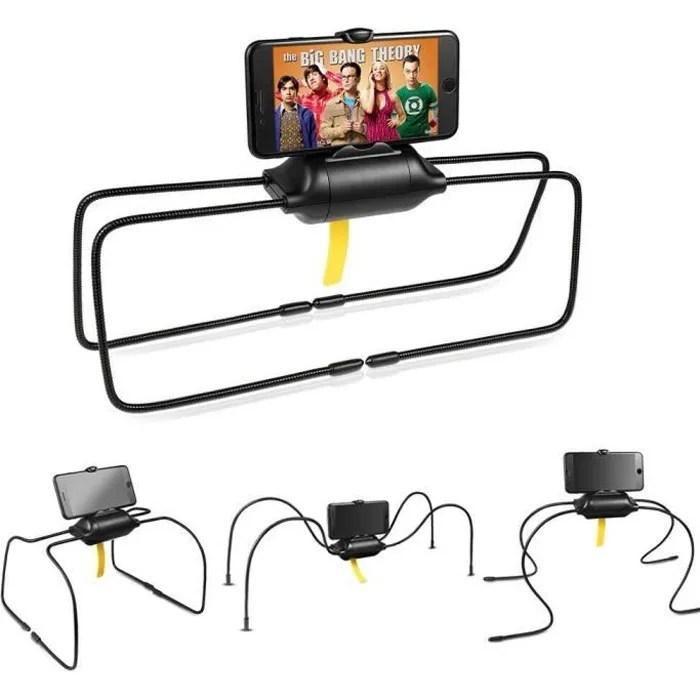 unho support tablette lit flexible pour ipad iphone telephone bras pliable avec pieds d araignee porte tablette reglable
